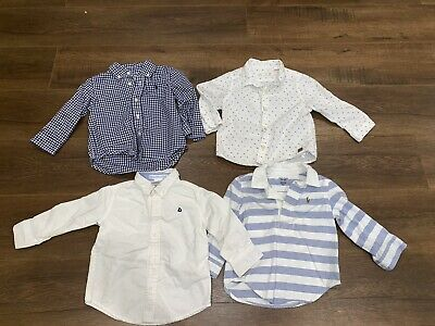 Janie And Jack Ralph Lauren Zara Baby Boy Button Down Shirts Size 12- 18 Months