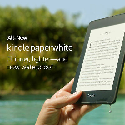Amazon Kindle Paperwhite 10th Generation 8GB, Wi-Fi Waterproof with front light1
