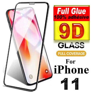 VERRE trempé iPhone 11 Pro MAX X XS XR Film Protecteur intégral Full 3D Glass