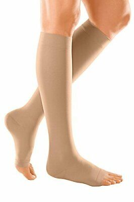 medi Duomed Soft CCL 3 Medical Compression AD Calf Stockings Sand Open Toe Large