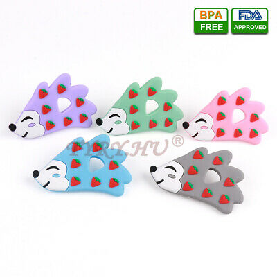 Infant Baby Teether Food Grade Silicone Soother Teething Chewable Hedgehog Toy