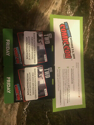 NYCC New York Comic Con 2019 (2) Friday Pass Badges10/4/2019 Fan Verified