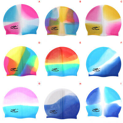Adult Flexible Durable Silicone Elasticity Swim Cap Swimming Hat For Women  gx