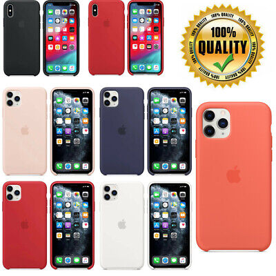 Genuine Original Hard Silicone Case Cover FOR Apple iPhone X 11 Pro XS Max XR