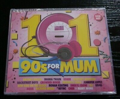 101 90's SONGS FOR MUM - Various Artists 5CD Brand New Sealed  2017