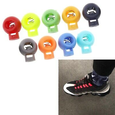 100pcs Assorted Color Cord Locks Single Hole End Shoelace Replacement Backpacks