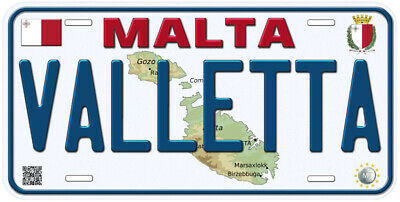Malta Any Text Personalized Novelty Aluminum Car License Plate