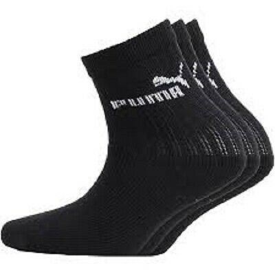 3 Pack Puma  Boys Black Crew Sports Socks  Size C9-11.5 Quality Socks.