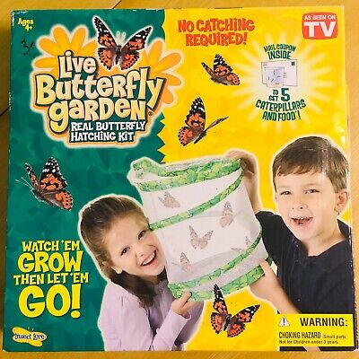 LIVE BUTTERFLY GARDEN. REAL HATCHING KIT As Seen On TV New In Box
