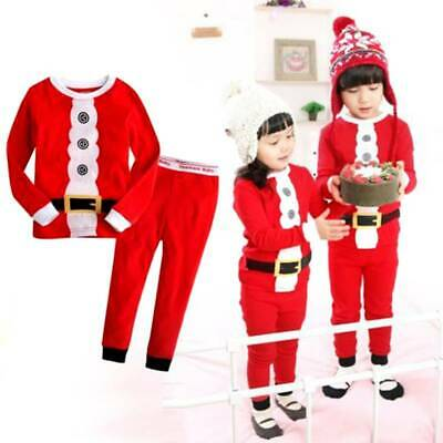 XMAS Toddler Kids Boy Girl Christmas Sleepwear Nightwear PJs Pyjamas Pajamas Set