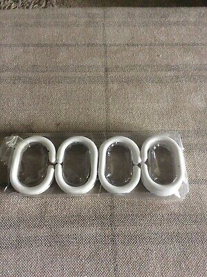 Twelve New C Shaped Plastic Shower Curtain Rings