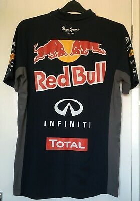 RED BULL RACING PEPE JEANS F1 FORMULA 1 Polo Shirt size M