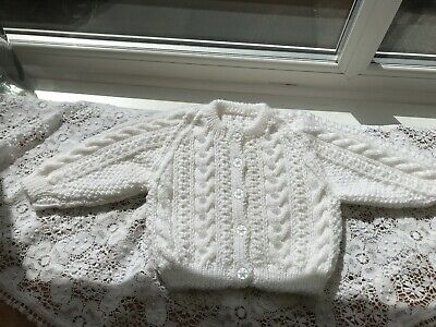 Hand Knitted Baby Cardigans 3 To 6 Months
