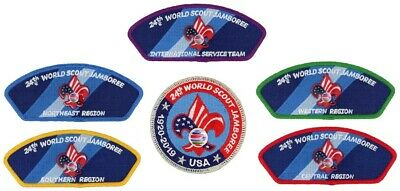 24th World Scout Jamboree 2019 Patch CSP JSP IST BSA USA Contingent WSJ Set Lot