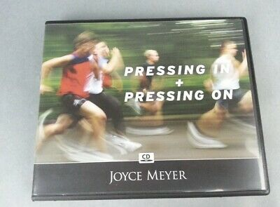 Joyce Meyer Audio 4 CD Pressing In & Pressing On