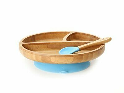 Avanchy - Toddler Feeding Plate and Spoon Set, Blue