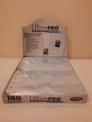 10x Ultra Pro Silver Series 9 pocket Album Pages for Collecting Trading cards