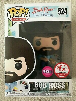 Funko Pop! Television Bob Ross #524 Flocked Big G Creative Exclusive