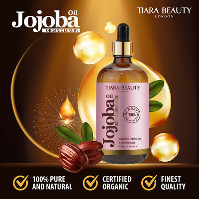 JOJOBA OIL 100% Pure Cold Pressed Certified Organic Jojoba Oil - 100ml