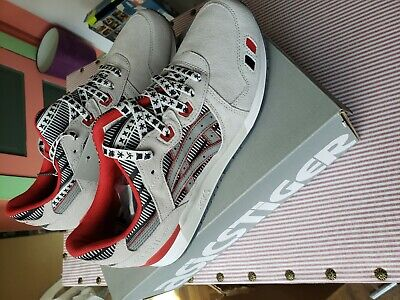 NEW ASICS TIGER GEL Lyte III Glacier GreySilver Red Black