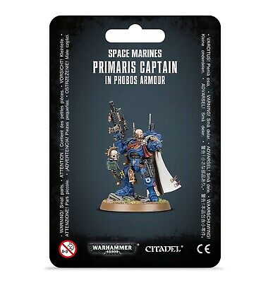 Warhammer 40K Space Marines Primaris Captain in Phobos Armour NEW 48-68