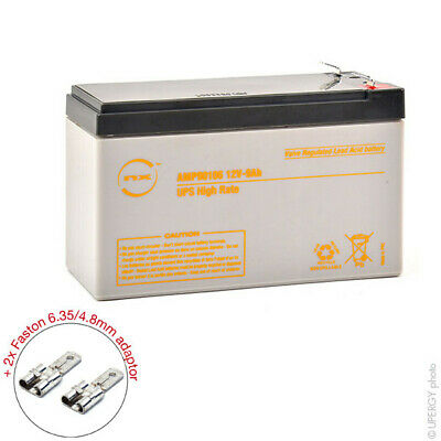 Batterie UPS NX 9-12 UPS High Rate 12V 9Ah F4.8