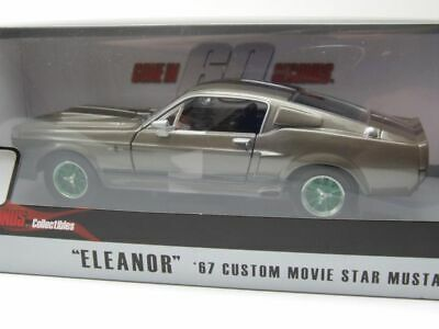"""Ford Shelby Mustang Gt 500 """" Eleanor """" 1967 Gray, Green Machine, Model Car 1:24"""