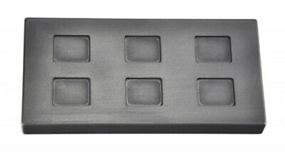 5 Gramme 6 Cavity Rectangle Gold Graphite Ingot Mould For Melting Casting
