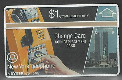 New York Telephone First Complimentary Phone Card with Twin Towers Mint