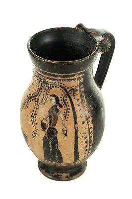 Ancient Greece Pottery Vase w/Black Figure -Possibly 5th Century B.C