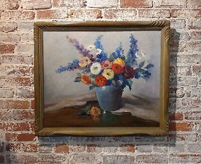 Nell Walker Warner- Large Floral Still Life -Beautiful Oil painting