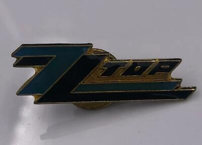 Pin Zz Top Badge Vintage Button Metal Gibbons S Billy Up 1980 Band Enamel Promo