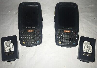 Lot of 2 Datalogic HandHeld scanners ELF PDA w/ Batteries  Parts/Repair