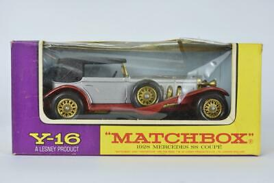 Matchbox Models of Yesteryear Y16/3 1928 Mercedes Benz SS Silver / Red MIB