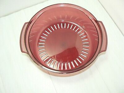 Tupperware Microwave Stack Cooker Replacement Quart Steamer 2195 Cranberry 2195A