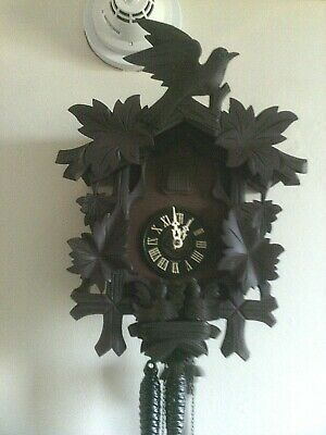 Used Cuckoo Clock: 1 Day (Vintage) Black Forest Germany (Working) Condition.