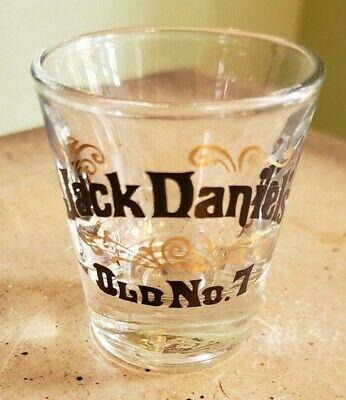 """Jack Daniels """"Old No.7 Brand"""" Tennessee Whiskey Shot Glass Logo"""