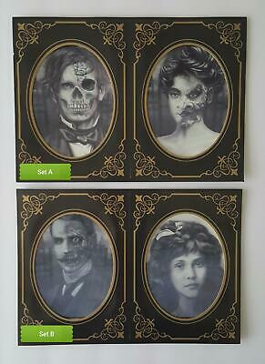 """2 Haunted Halloween Scary Pictures / Lenticular Photo 7""""x 5"""" each """"you pick set"""""""