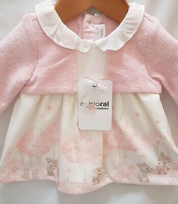 Mayoral Designer Baby Girl Dress with head band Size 0-1 month RRP £29.99 New
