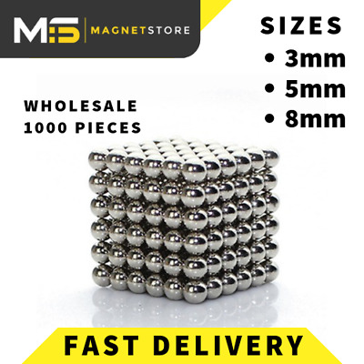 WHOLESALE Strong Sphere Ball Magnets N42 Neodymium Stress and Anxiety Relief