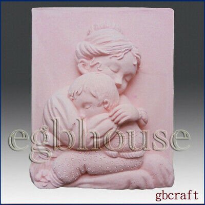 Mother Cradle Her Child- Detail of High Relief Sculpture - Silicone