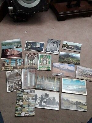 18 Old Postcards Photos Antique Vintage Collection Job Lot