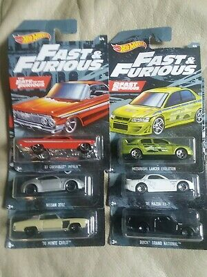 Hot wheels fast and furious 2019 set