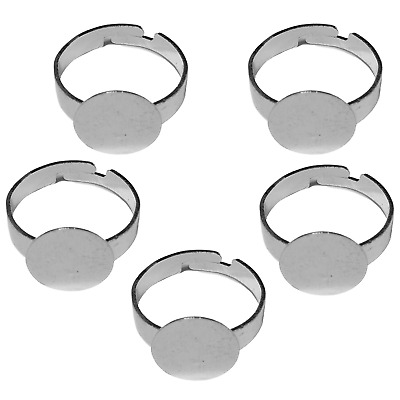 Silver Colour Metal Ring Blanks