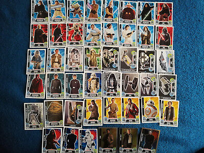Lote de 46 cromos cartas topps Force Attax Star Wars Carrefour 2016 consultar 5