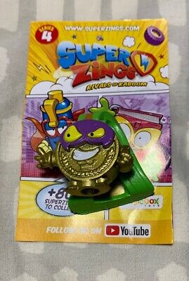 Bad Prize Rare Gold Series 4 SuperZing - Super Zing Free signed for p+p