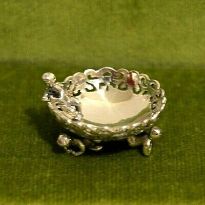 Miniature Sterling Silver Bowl with Cherub Dollhouse 1:12 Artist Don Henry