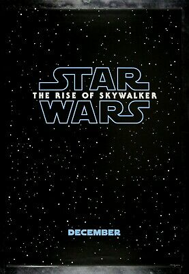 THE RISE OF SKYWALKER ✯ CineMasterpieces ORIGINAL DS MOVIE POSTER STAR WARS 2019