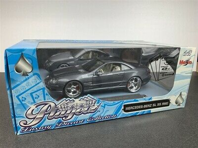 Mercedes Benz Sl55 Amg Die Cast 1/18 Grey By Maisto Playerz Version 31052