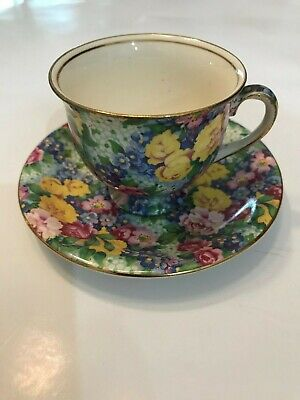 Royal Winton Julia Chintz Demi-Tasse Cup And Saucer